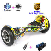 Bluetooth Speaker Overboard Oxboard Remote Electric Scooter Self Balance Hover Board Led Light 10 Inch Electric