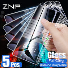 ZNP 1-5Pcs Tempered Glass For iPhone X XS MAX XR 6 6s 7 Plus Screen Protector Film For iPhone 6 6s 7 8 Plus Protective Glass(China)