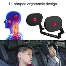 Подголовник автомобиля для сна с обеих сторон поддержка головы подушка для шеи Подушка для спины дышащая мягкая удобная практичная для детей и взрослых