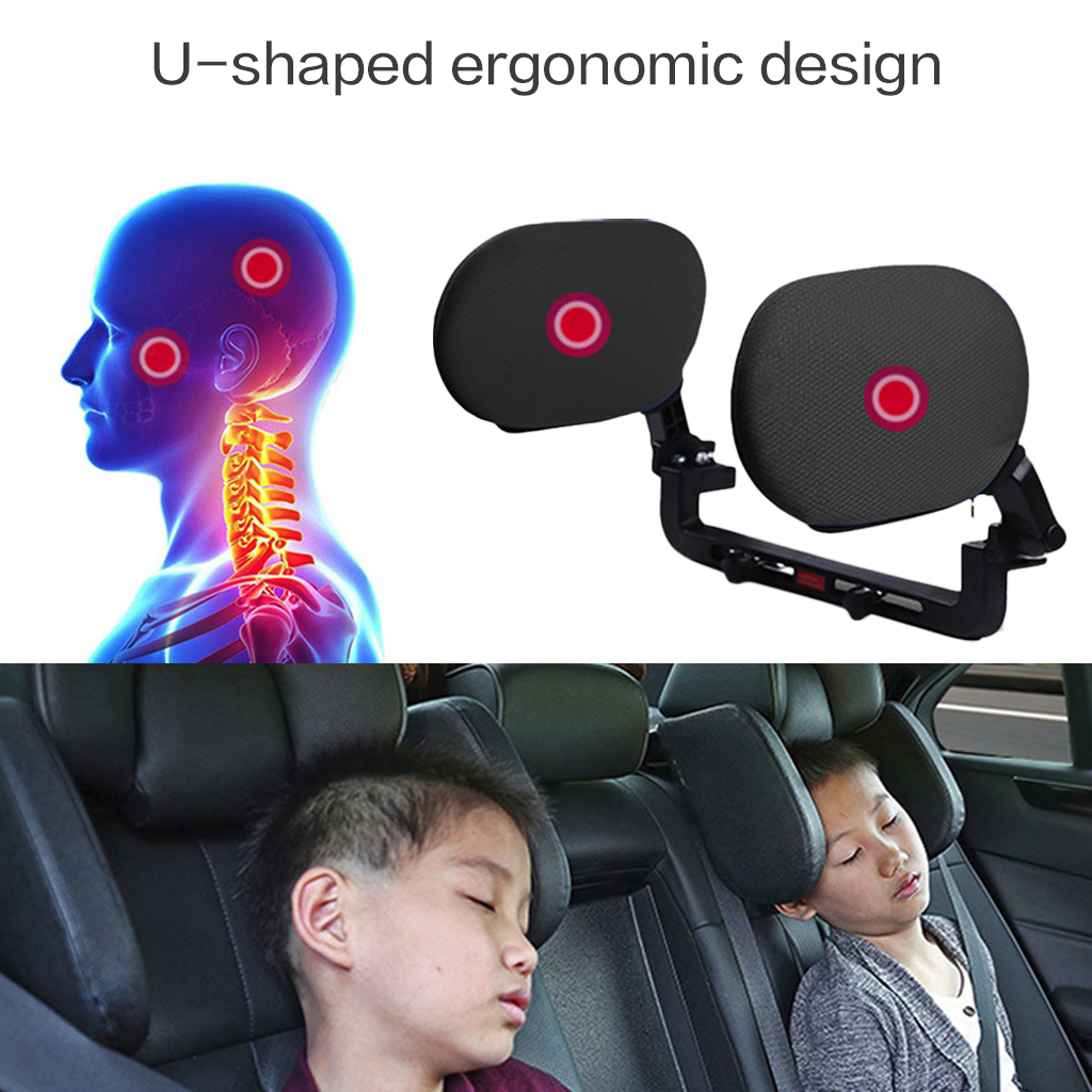 Car Headrest Sleep Both Side Head Support Neck Pillow Back Cushion Breathable Soft Comfortable Practical For Children Adults