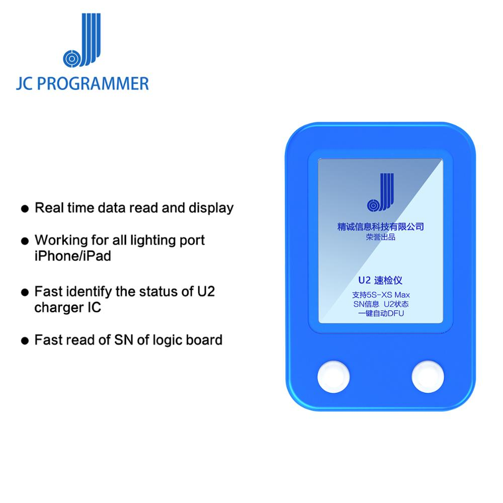 JC U2 Tristar Tester Detector Rápido para iPhone/iPadU2 IC Carga Falha Tester Rápido SN Serial Número Detector Rápido leitor