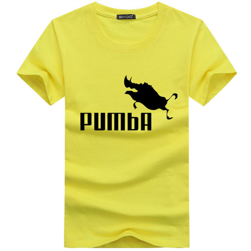 3fe234ee BINYU 2018 funny tee cute t shirts homme Pumba men short sleeves ...