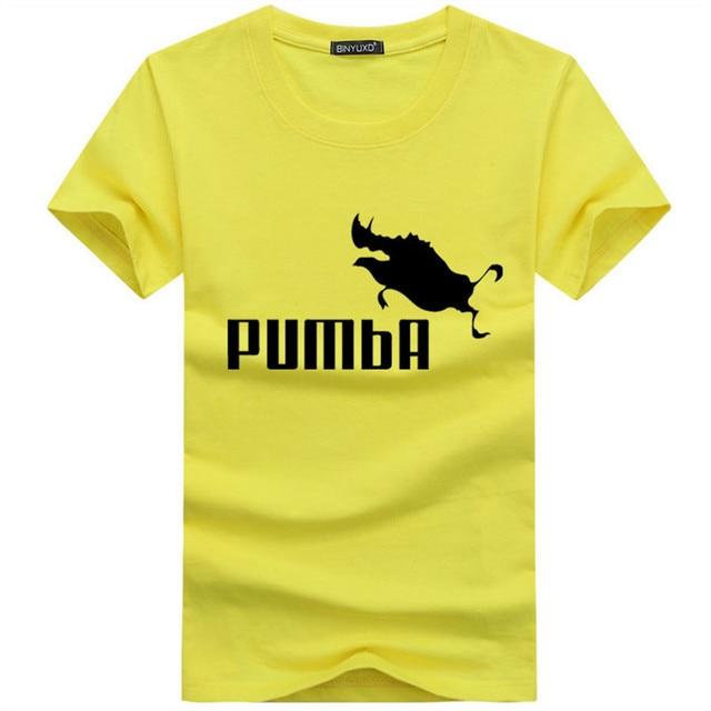 21dfb2610 BINYU 2018 funny tee cute t shirts homme Pumba men short sleeves cotton tops  cool t ...