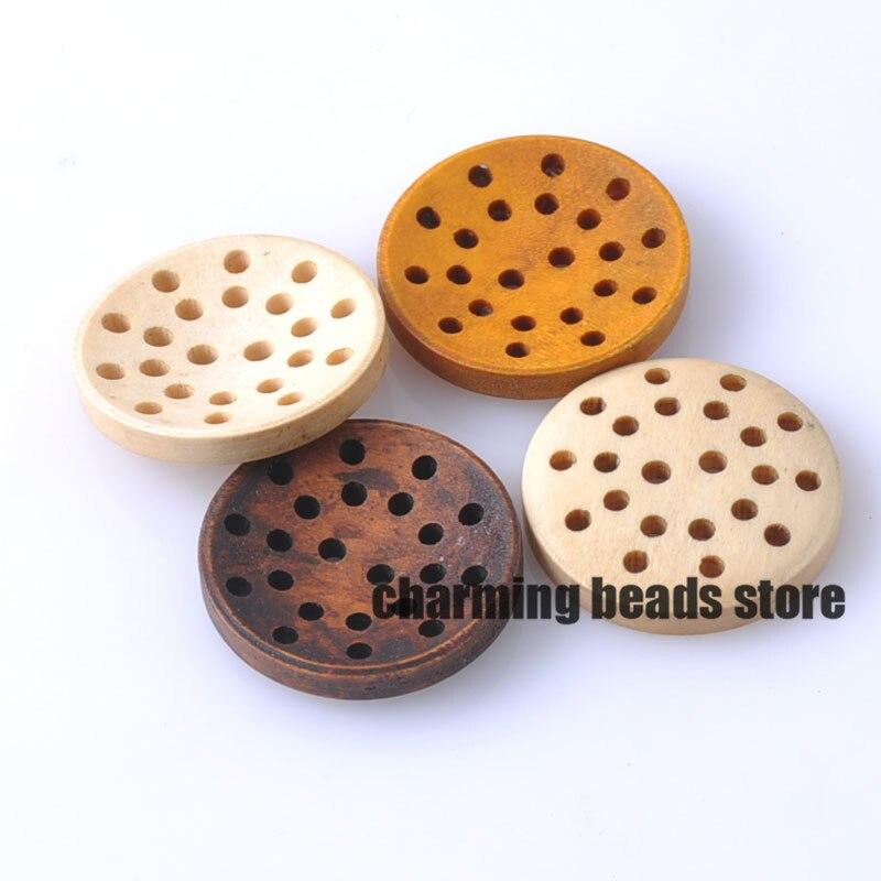 Botones Marrón-Dress It Up Pequeño Redondo Natural botones-Micro Adorno 5mm