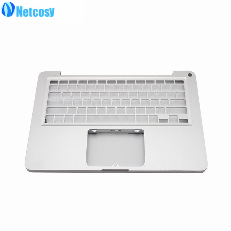 Netcosy 97% New A1278 Sliver Top Case laptop keyboard cover without keyboard For MacBook Pro 13 A1278 2009 2010 laptop new laptop keyboard for lenovo thinkpad new x1 carbon 2014 deutsch german swedish danish norwegian us layout
