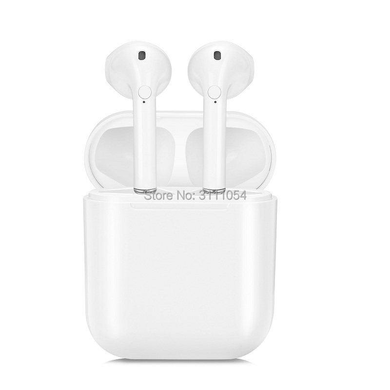 New TWS Bluetooth Earbuds Double Ear Wireless Earpiece Headsets Earphones Wireless Earphone For Andorid Iphone new dacom tws true wireless bluetooth headset mini bluetooth 4 2 wireless earpiece earbuds in ear earphone for iphone 7 android
