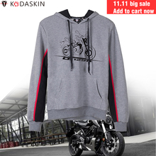 KODASKIN Men Racer Motorcycle Hoodies Hooded Coat Hoody Jacket Sweatshirts for Honda CB125R CBR125