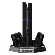 Вертикальной Заряда Стенд Dual Cooler Вентиляторы Для PS4 Playstation 4 Console и Четыре Зарядных Станций для Контроллеров PS4 DualShock4 FW1S