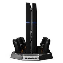 Вертикальной заряда Stand Dual cooler вентиляторы для PS4 Playstation 4 консоли четыре зарядных станций для PS4 контроллеров DualShock 4