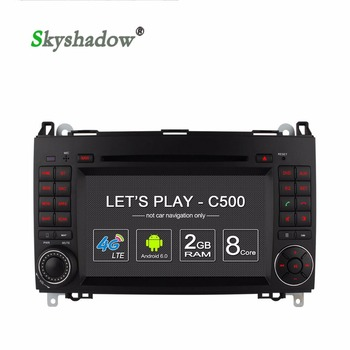 C500 8 Core+2G RAM+4G LTE Android 6.0 Car DVD Player Radio GPS map Bluetooth wifi TPMS TV For Benz Sprinter Viano Vito W169 W245