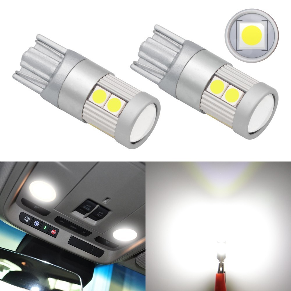 1 Piece Car Styling Car Auto LED T10 Canbus 194 W5W 9SMD 3030 LED Light Bulb No Error LED Light Parking T10 LED Car Side Light
