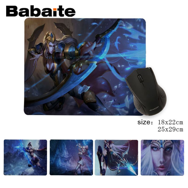 Babaite Custom Skin Ashe Laptop Computer Mousepad Good quality No Lock Edge Game Mouse Pad image