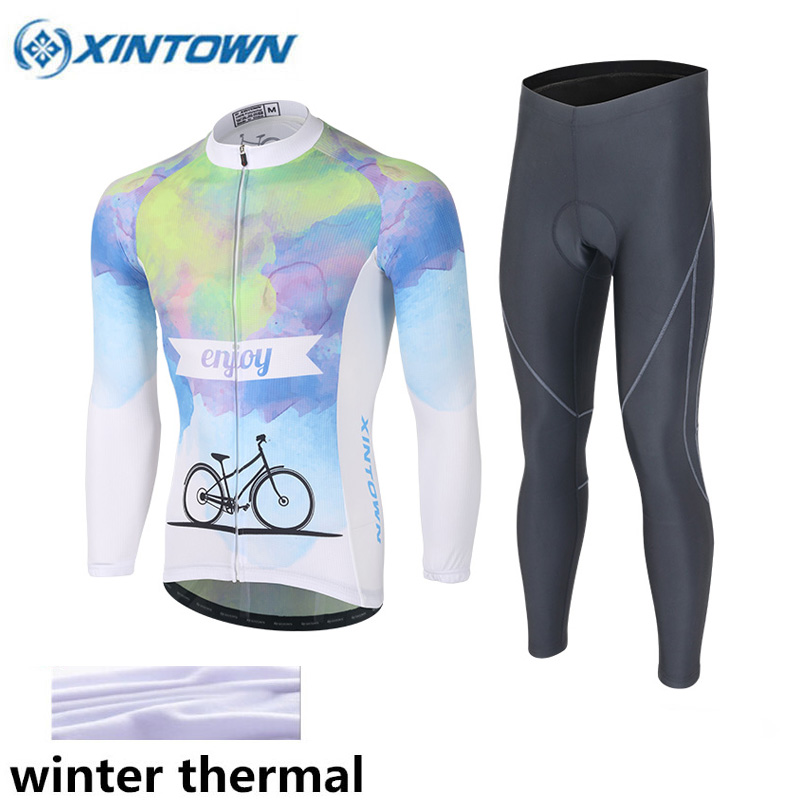 XINTOWN 2017 Thermal Fleece Cycling Jersey Ropa Ciclismo Invierno Hombre Sport MTB Bike Winter Cycling Clothing Bicycle Men black thermal fleece cycling clothing winter fleece long adequate quality cycling jersey bicycle clothing cc5081
