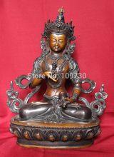 003251 Bronze Buddha - Oxidized Vajrasattva Tara Statute Handmade in Nepal