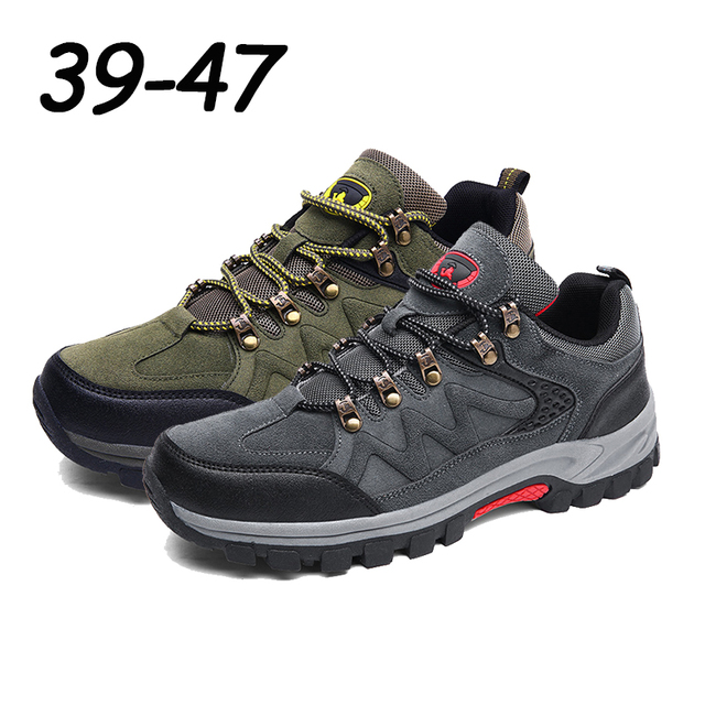 39-47 Professional Men Outdoor Hiking Sneakers Waterproof Mountain Boots Trekking Shoes Woodland Camping Tactics Hunting Shoes