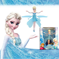 Flying Fairy Dolls Toy Infrared Induction Control Flying Dolls For Girls Remote Control Christmas Gift For