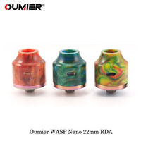 Electronic Cigarette Atomizer OUMIER WASP NANO RDA Big Deck Rebuildable Tank 22mm Diameter Adjustable Airflow Bottom