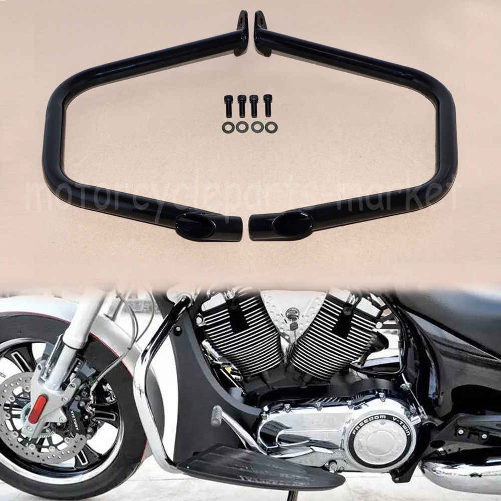 Swell Black Motorcycle Highway Engine Guard Crash Bar For 10 17 Machost Co Dining Chair Design Ideas Machostcouk