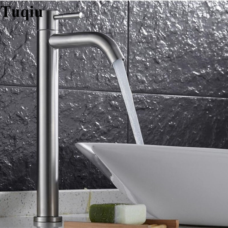 Stainless steel deck mounted single cold nickel brushed sink faucet basin faucet,tap mixer stainless steel deck mounted single cold nickel brushed sink faucet basin faucet tap mixer