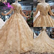 Aijingyu 구매 웨딩 드레스 두바이 가운 핫 온라인 파티 의류 수입 가운 중국 웨딩 드레스