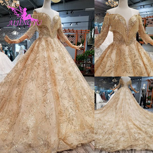 Image 1 - Aijingyu 구매 웨딩 드레스 두바이 가운 핫 온라인 파티 의류 수입 가운 중국 웨딩 드레스