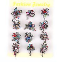Set Of 12 Pieces Bow Brooch Pin With Simulated Pearl For Women Bride Or Bridemaid