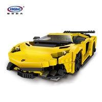XingBao 03008 924Pcs Block Creative MOC Technic Series The Yellow Flash Racing Car Set Educational Building Blocks Bricks Toy