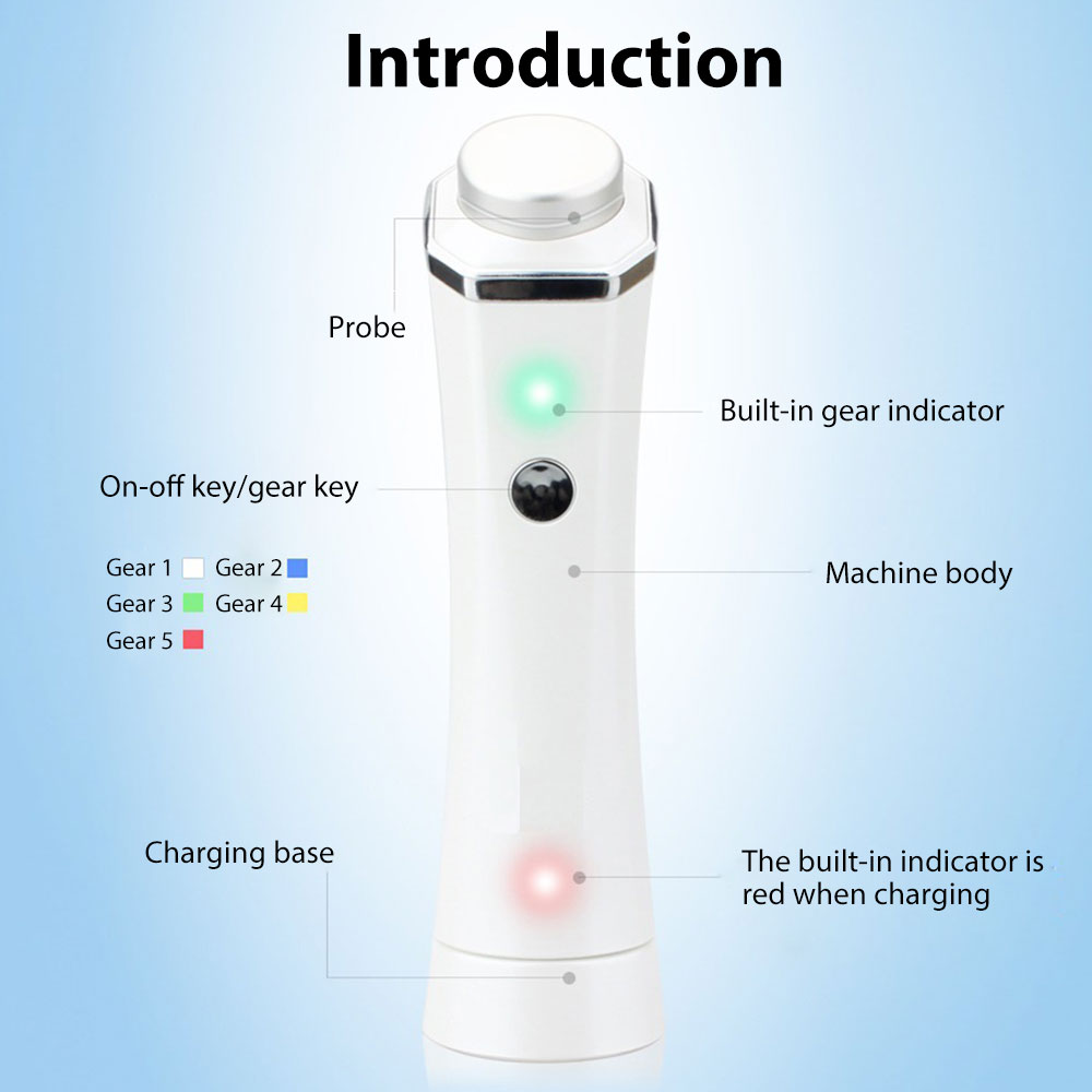 Home USB Charging Face Massager Facial Beauty Device Electric Photon Portable Universal ABS Brighten Skin Colour Gift