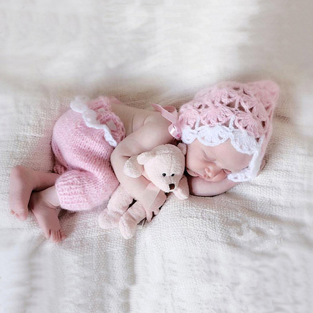 Europe children clothing hand knitting wool suit baby hundred days newborns photography props 0 6