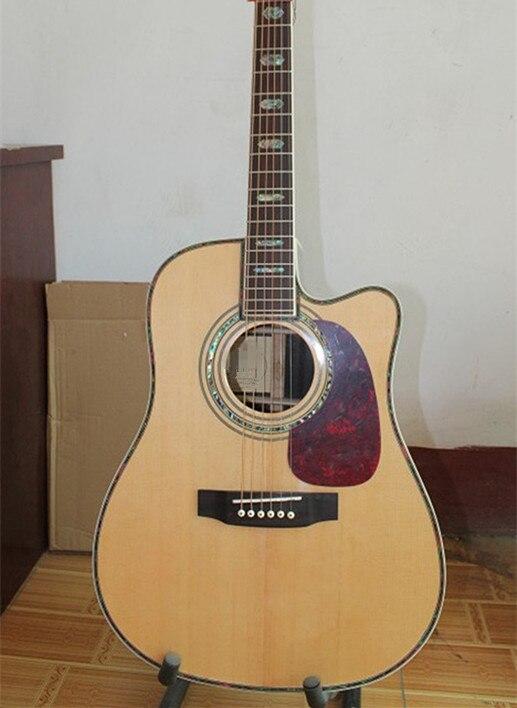 La guitare acoustique naturelle de côté arrière d'érable de dessus de poussée solide de 41 ''d'usine peut ajouter le ramassage de Fishman EQ