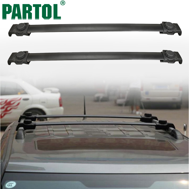 Partol 2Pcs/set Aluminum Car Roof Rack Cross Bars for Jeep Patriot 2007-2015 Crossbars 60KG Loading Kayak Bike Carrier 82210804