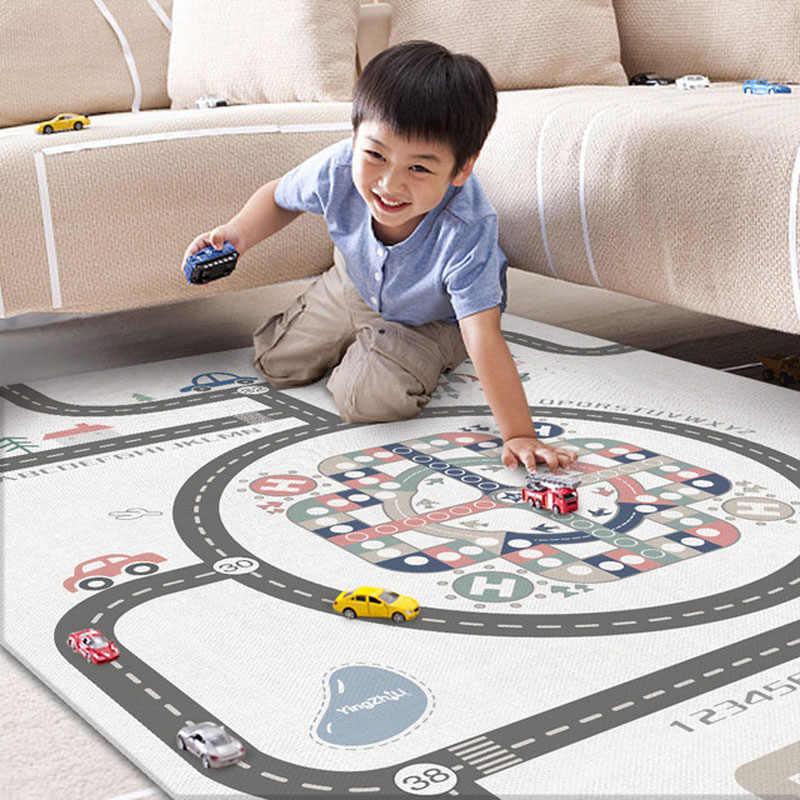 Складной детский Коврик развивающий коврик толстый двухсторонний детский игровой коврик игрушки для детский коврик игровой коврик Пазлы ковры украшение комнаты
