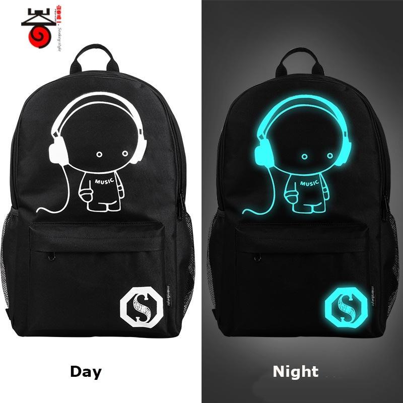 August 2016 New Fashion Men Women Backpack Travel Bag The Trend Of Korean Schoolbag Luminous Backpack