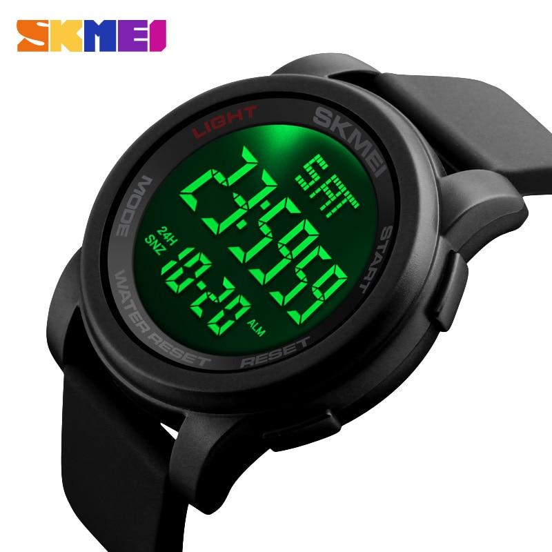 Masculinos da Marca Relógios de Pulso à Prova Skmei Relógios Superior Casual Digital Relógio Masculino Dwaterproof Água Esporte 1257 Led