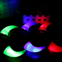 100ピース/ロットled応援点滅悪魔ホーンヘアバンド発光光るカチューシャハロウィンクリスマスパーティー装飾HX606