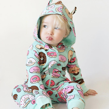 2019 new Baby Jumpsuit outdoor Boy Cotton cute hooded Playsuit winter Girl Overalls Infant Clothes Toddler Onesie newborn Romper недорого