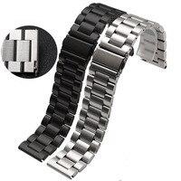 22mm Faixa de Relógio Pulseira Strap para Pebble Tempo de Liberação Rápida/Aço asus zenwatch 1 2 22mm lg g watch w100 r w110 urbano W150