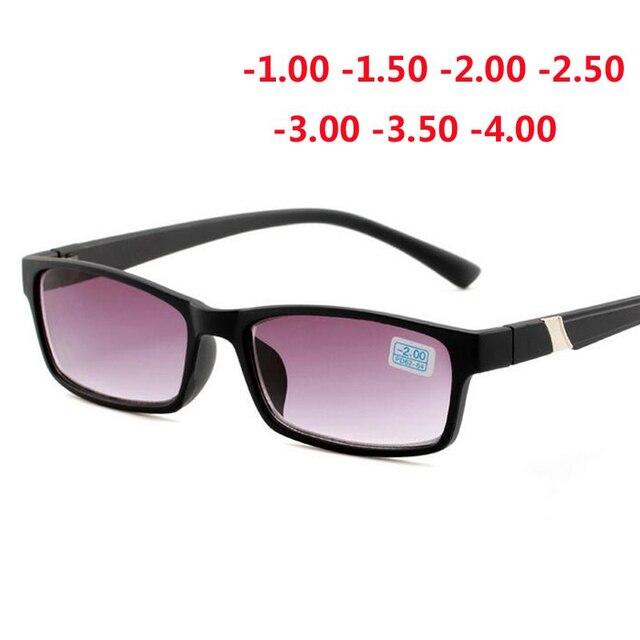 Terminado Miopia Óculos De Sol Para Unisex Anti-Blu-ray Moda Miopia Óculos de Sol Dos Homens Das Mulheres-1.0-1.5 -2.0-2.5-3.0-3.5-4.0
