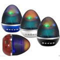 Multimedia colorful LED Light bluetooth Speaker WS-1802 Egg ovoid shape Disco Lamp speaker with Radio USB/TF card Play subwoofer