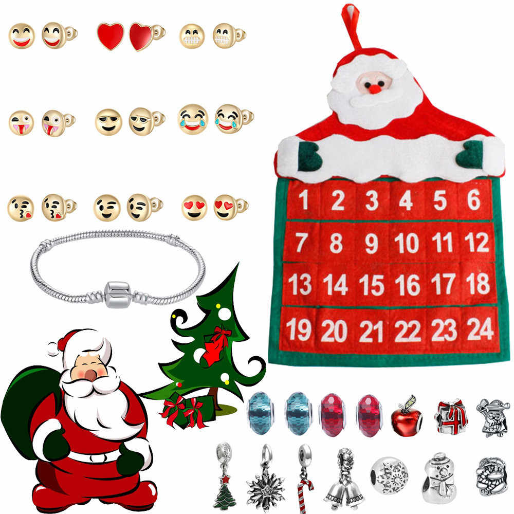 fcb5bdf3f85c 2019 Fashion Jewelry Advent Calendar 2019 24 Day with Bracelet Countdown  Christmas Gift Hot sale