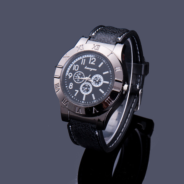 b707045c3b2 Personalidade criativa Cigarro Eletrônico Isqueiro Sem Chama Mais Leve  Relógio De Quartzo Metal Charuto Isqueiro USB
