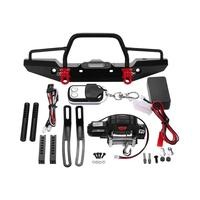 Front Bumper Bright LED Lamp Winch Controller Kit for RC TRAXXAS TRX 4 Car