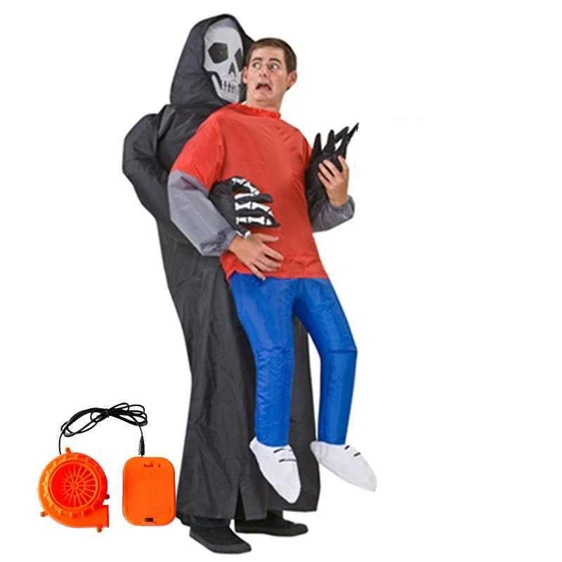 Рождество Хэллоуин для взрослых Детский костюм Косплэй смерть жертвой надувной  костюм пародия карнавал Детский костюм для 4e2e768aeb9ef