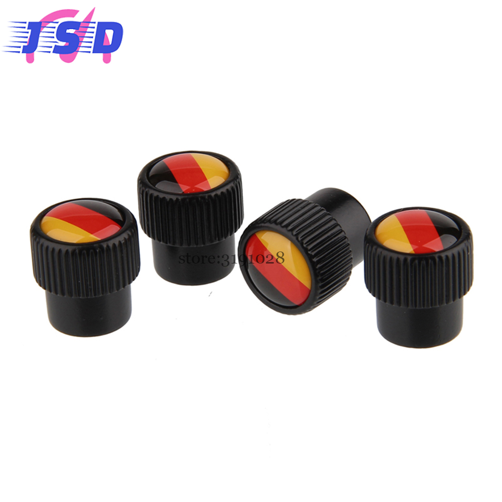 Car Styling Auto Part Tire Valve Cap Covers Tools With German Flag