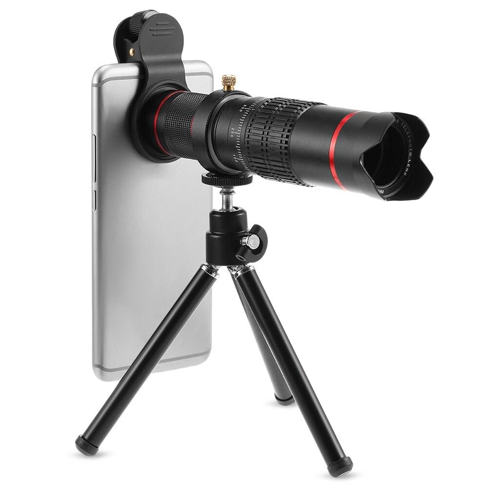Universel 22X Téléobjectif pour Téléphone Mobile Jumelles HD Zoom Clip Sur Lentille Kit Trépied Téléphone Objectif