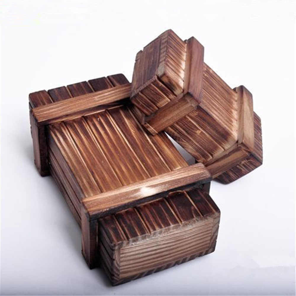 New Arrival Wooden Funny and Fashion Puzzle Room Escape Tricky Props Toy  Wood Bored Organ Box Brain Game for Grownups