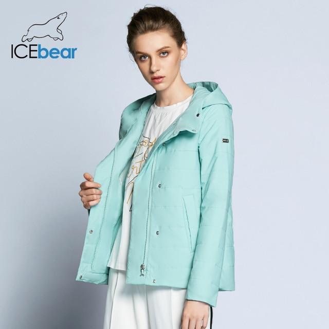 ICEbear 2019 טור כפתורים כפול כותנה מרופד מעיל חם אופנה הלבשה עליונה סתיו אביב קצר ומעילים GWC82117D