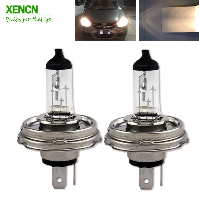 New XENCN H4 P45t 12V 60/55W P45t 3200K Clear Series Standard Car Head Lights Halogen Bulb Auto Lamps Long Lifetime 2pcs xencn h7 px26d 12v 100w 3200k clear series off road standard car headlight halogen bulb uv quartz brand auto lamp for mazda cx 5