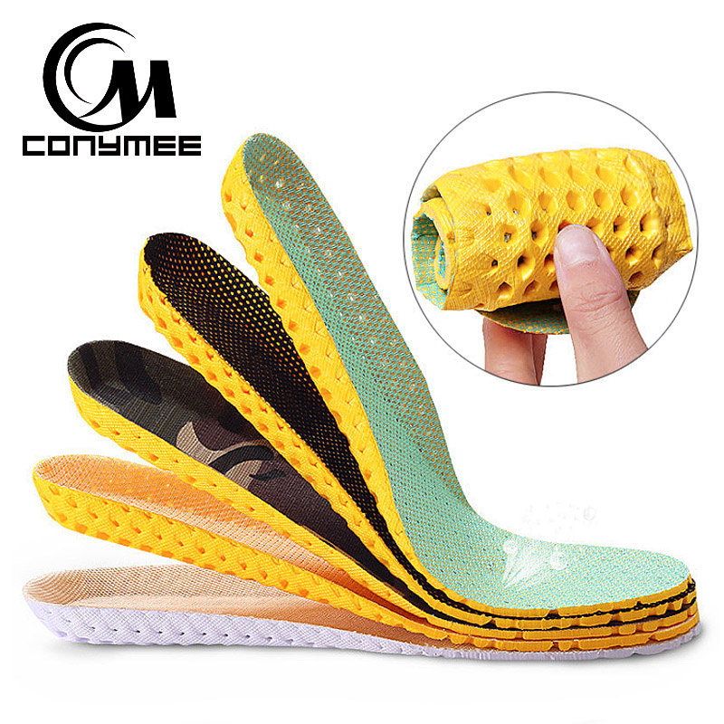 CONYMEE Men Women Shoes Insoles Arch Support Sneakers Foam Insole Shock Absorption Shoe-Pads Sweat-proof Shoe Inserts Brioche unisex pu athletic comfort insoles with shock absorption pads daily wear work shoes inserts arch support insole orthotic insoles