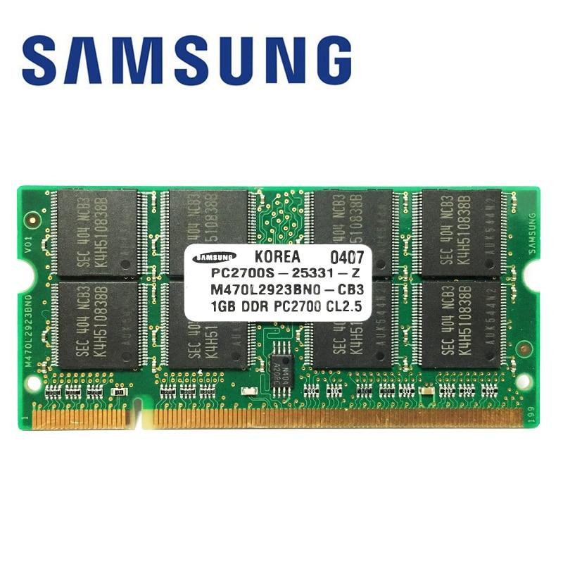 Память Samsung ddr1 для ноутбука, 1 ГБ, 512 МГц, 333 МГц